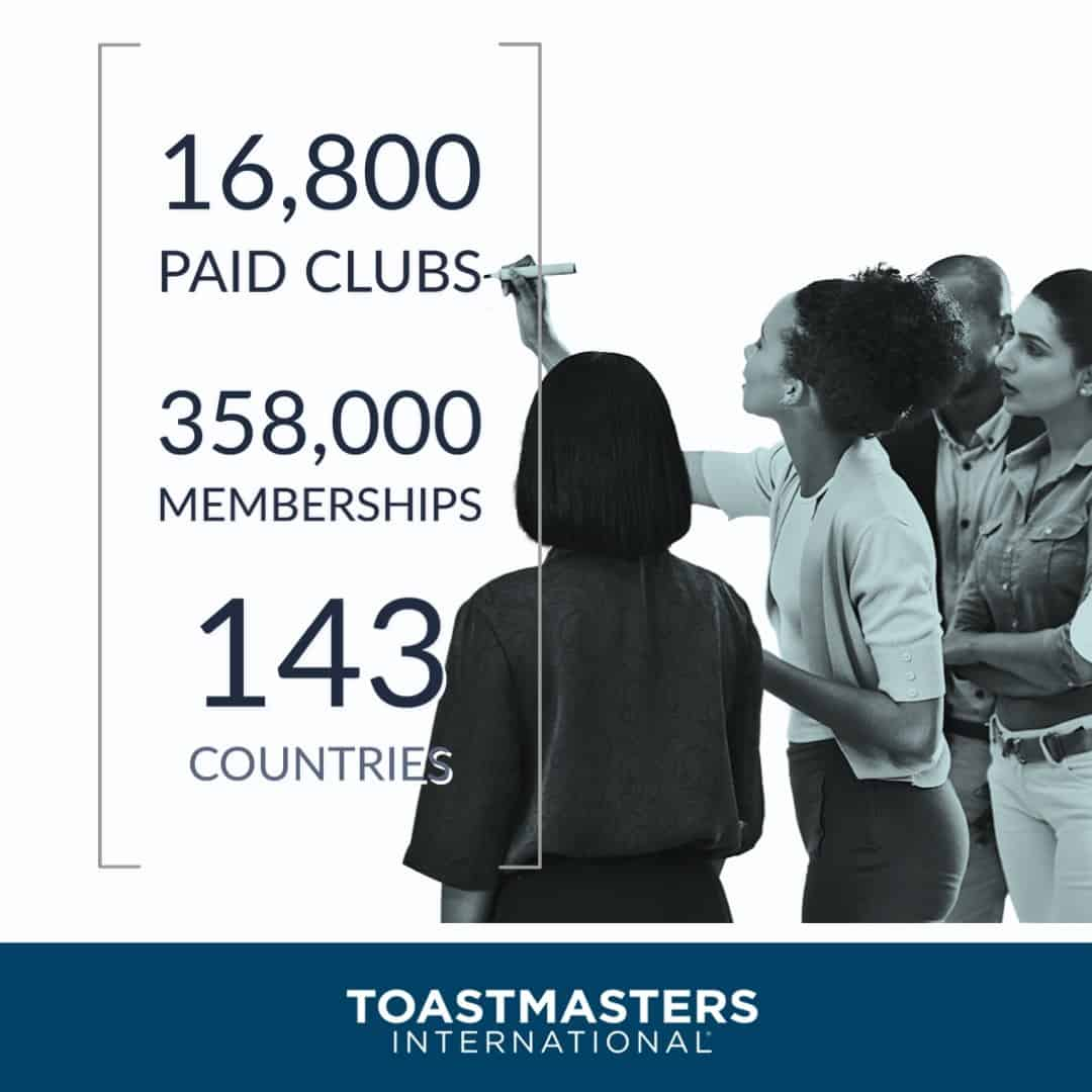 Significant increase in Toastmasters International membership