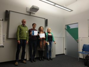 The winners and contest officials of the German Evaluation Contest