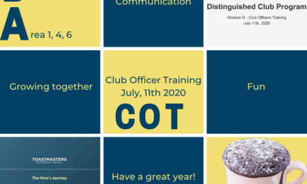 Club Officer Training – Areas D1, D4 & D6 – July 11th