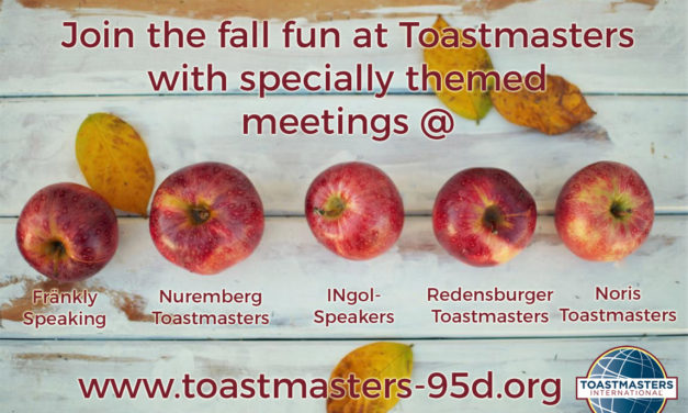 Vergnügliche Toastmasters-Herbstzeit in der Area D4