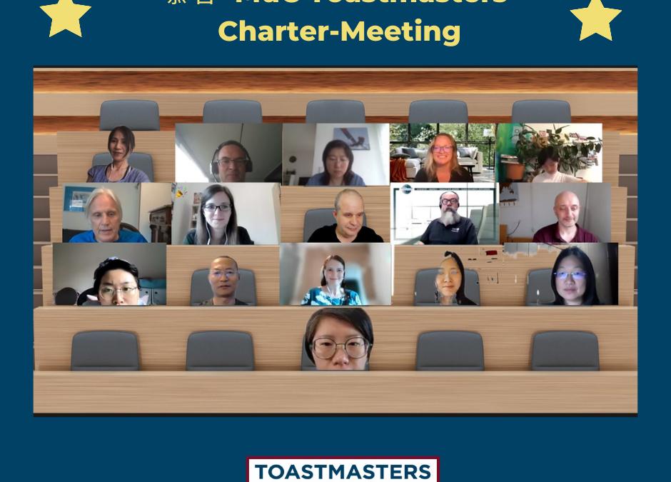 慕客  MuC Toastmasters ist  nun Mitglied der Toastmasters Familie